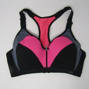 VSX Victoria Secret Sports Bra Size 36B Black Pink